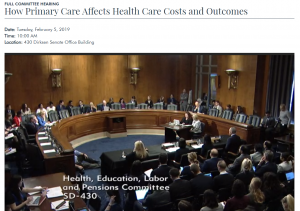 HELP Primary Care Costs Hearing