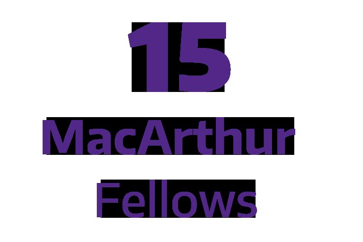 15 MacArthur Fellows