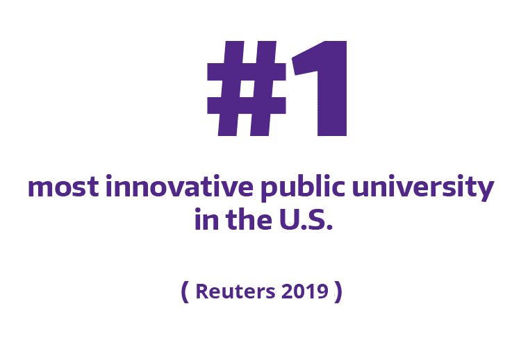 No. 1 most innovated public university in the U.S. according to Reuters