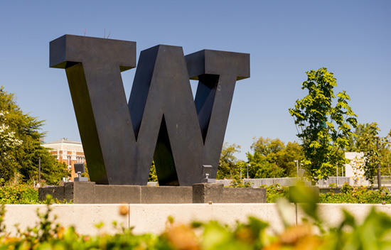 W at UW Seattle campus