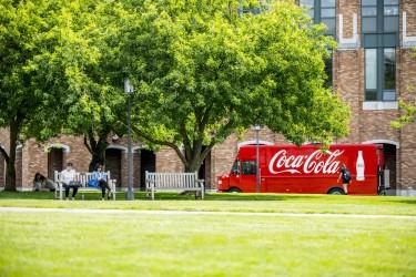 Coca-Cola truck on the UW campus