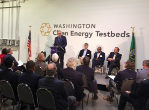 Governor Inslee at Clean Energy Testbeds Facility