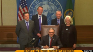 Governor Inslee signing SB 5631