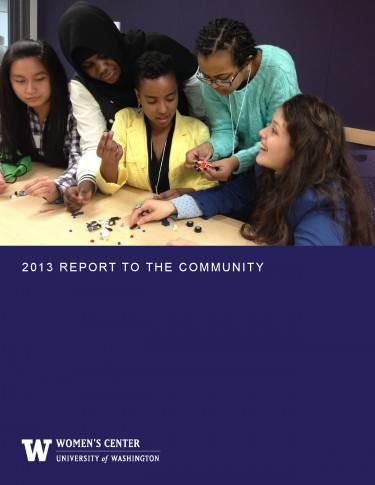 2013 UW Alene Moris Womens Center Annual Report Cover Photo Featuring WC Student