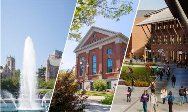 Collage of Seattle, Tacoma and Bothell campuses