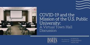 COVID-19 and the Mission of the U.S. Public University: A virtual town hall