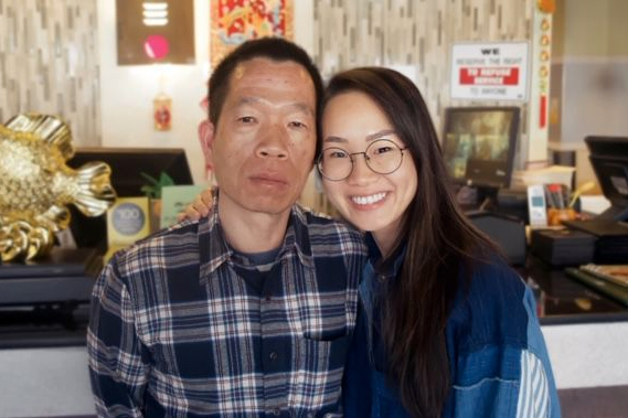 Carol Xie and her father of Purple Dot Cafe