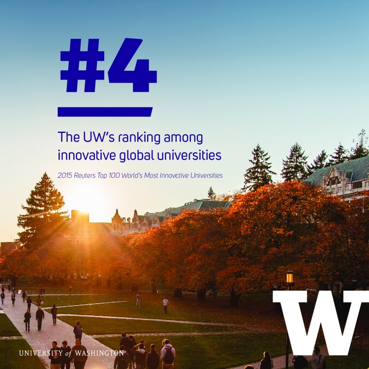 REUTERS RANKED THE UW THE MOST INNOVATIVE PUBLIC UNIVERSITY IN THE WORLD.