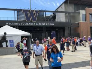 USA games Alaska Airlines Field entrance