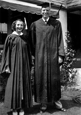 Graduation photograph of Bill Gates Sr and Mary Maxwell