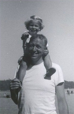 Photograph of Bill Gates Sr and daughter Kristianne Gates