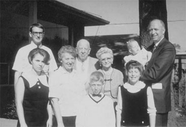 Photograph of the Gates family