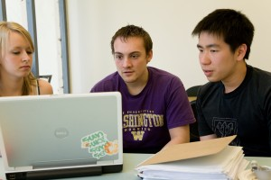 Students studying and collaborating in Undergraduate