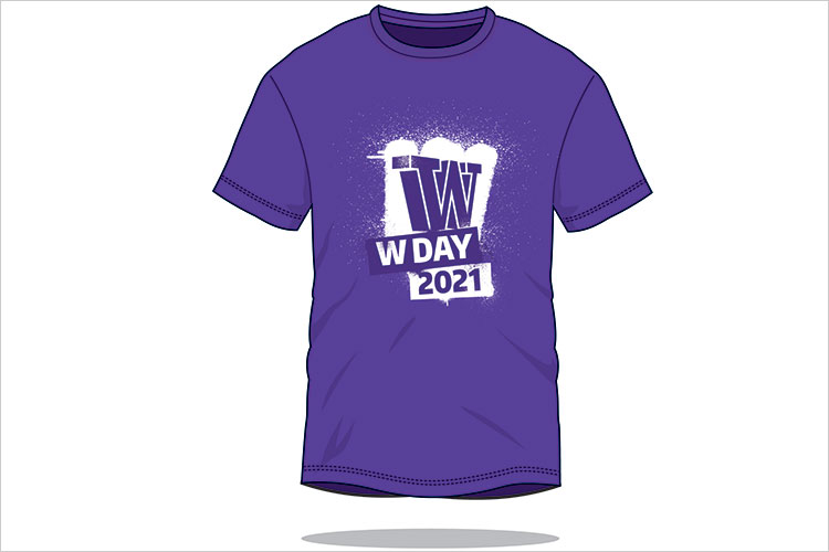 Mockup of W Day T shirt