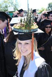 Graduate wearing a decorated mortarboard