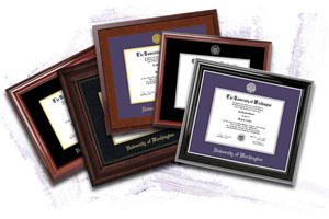 frames with black or purple mats