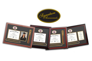 frames with sections for diploma, portrait and UW seal
