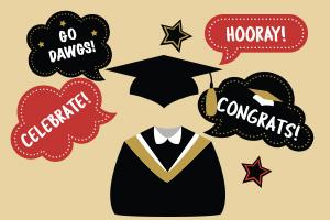 illustration celebrating graduation