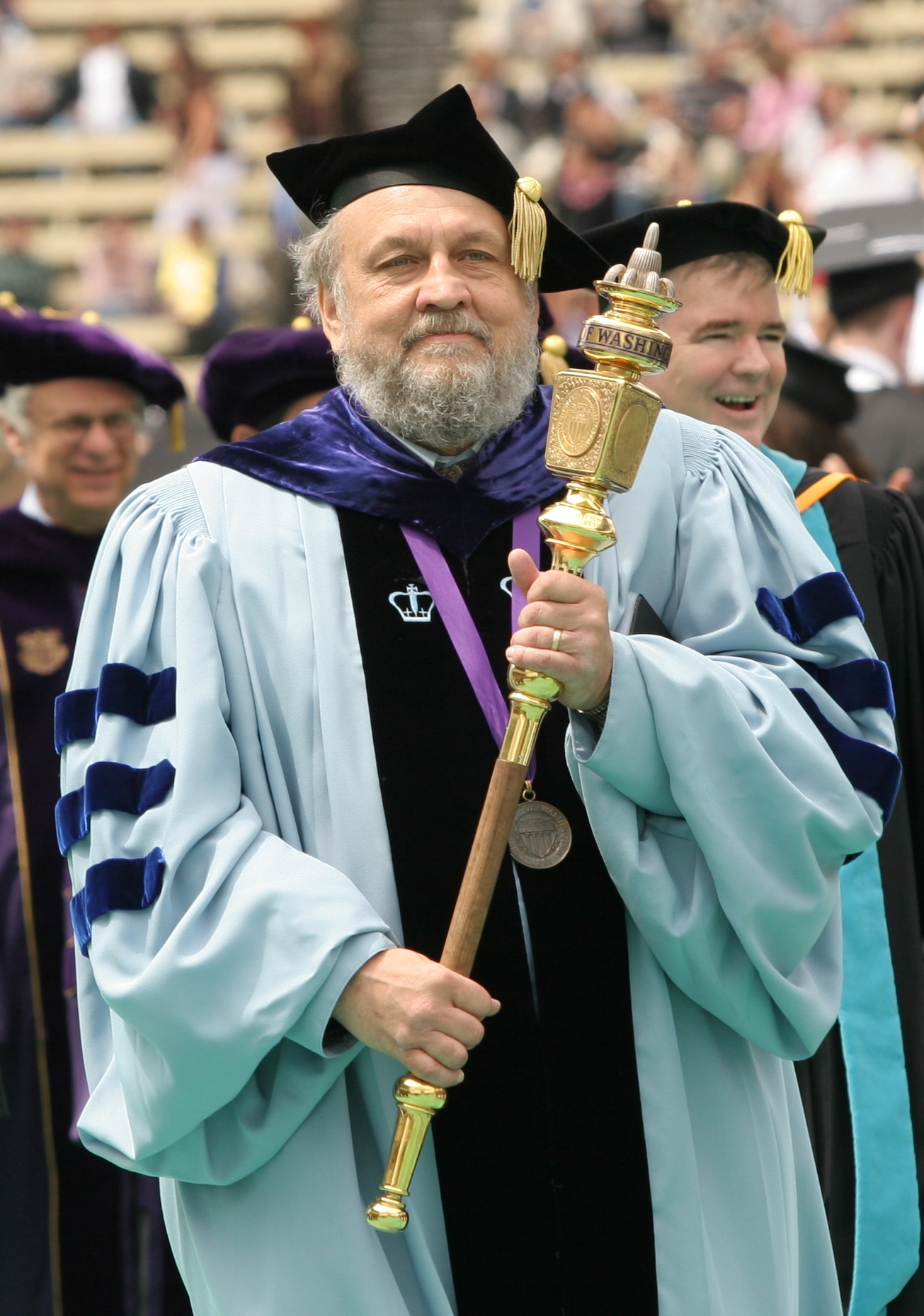 Prof. Ronald M. Moore carries university mace