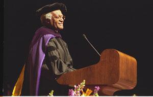 Desmond Mpilo Tutu receiving his honorary degree