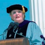 Madeleine Albright receiving her honorary degree
