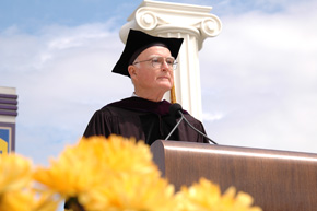 William D. Ruckelshaus receives his honorary degree