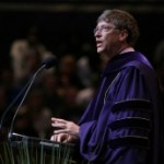 William H. Gates III receiving his honorary degree