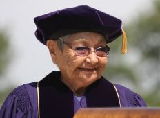 Virginia Beavert receives her honorary degree