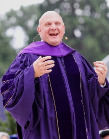 Steven Ballmer receives his honorary Doctor of Laws degrees.