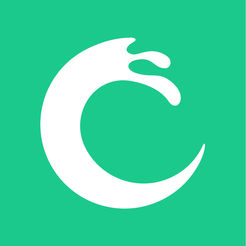 App icon: green background with white wave.