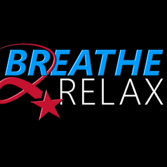 App icon: black square with words 'Breathe2Relax'