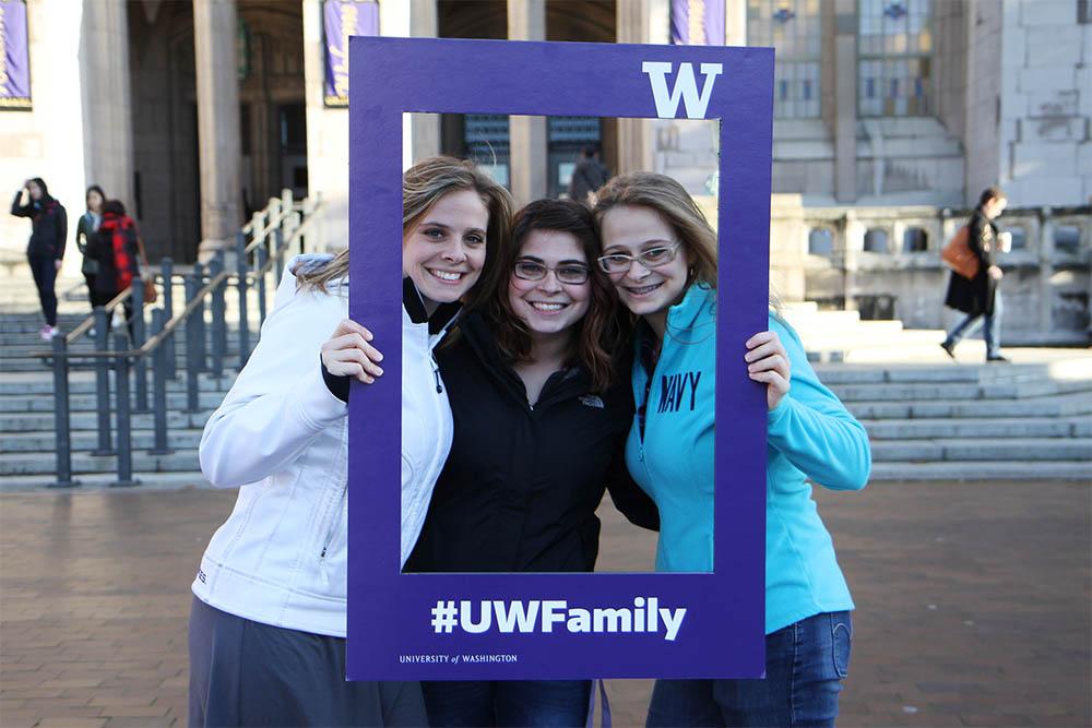 UW family posing for photo