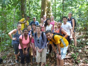 Students on a trip to Costa Rica