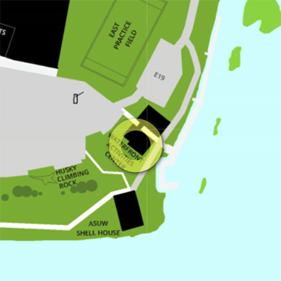 approximate location of Waterfront Activities Center