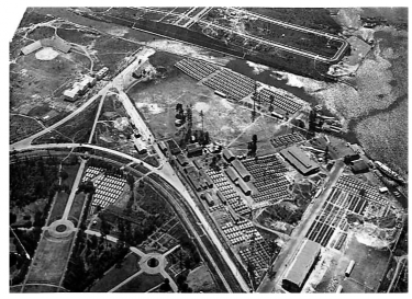 Aerial WWI camp