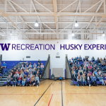 Students gather for the 2019 Husky Experience event hosted by UW Recreation