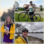 A collage of photos featuring Cassie Taylor, Sara Lee, and Greg Barnes