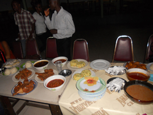 food from local Ghanian restaurant