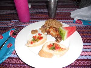 Ghana first meal