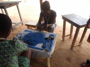 women threading final product