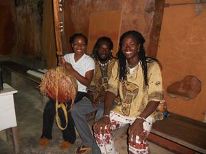 Kamaria with Siaka and his brother
