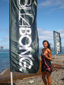 Veronica at the surf competition