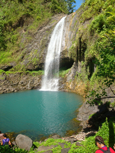 The waterfall we hiked to