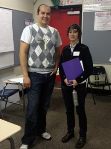 Ross Braine, OMA&D tribal liaison, with Gwyn Prater, graduate specialist for the Neah Bay GEAR UP program.
