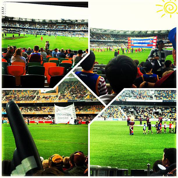 Australia Study Abroad 2013 - Rugby Game