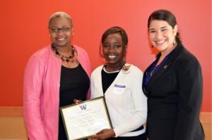 Cynthia Simekha received the George Newsome Memorial Scholarship