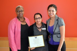 Norma Ramirez with Dr. Sheila Edwards Lange and CAMP director Luz Iniguez.