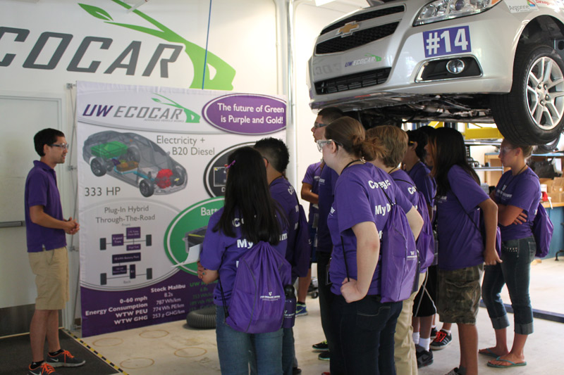 Getting a first-hand look at the UW's EcoCAR 2