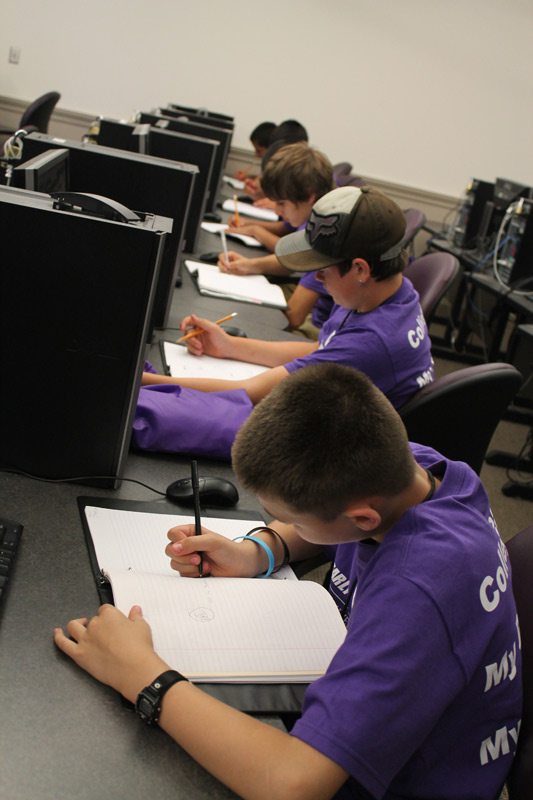 Institute activities included the opportunity to study in UW classrooms.