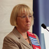 Senator Patty Murray gives remarks during an award ceremony at the UW.